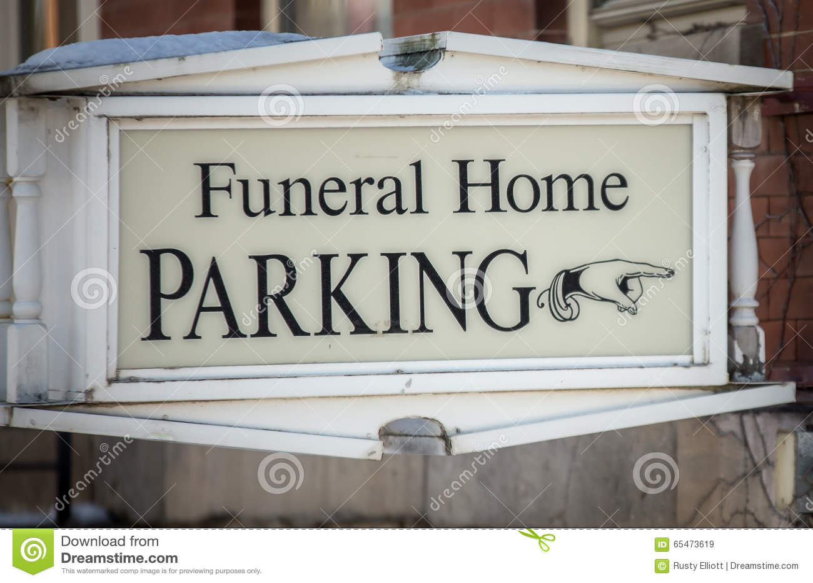 Funeral Home Parking Sign Stock Illustration Image 65473619