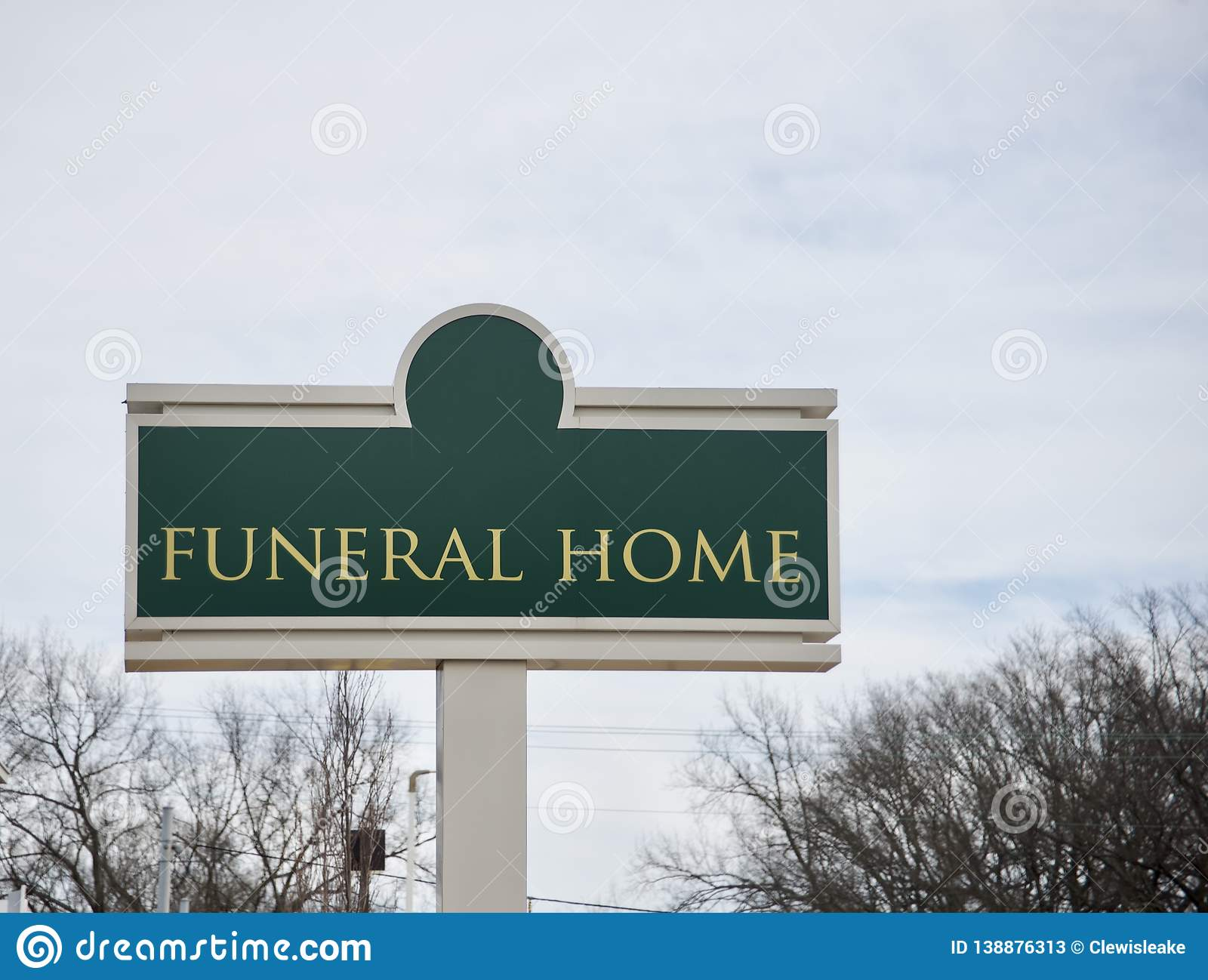 Funeral Home And Memorial Gardens  Stock Image - Image of