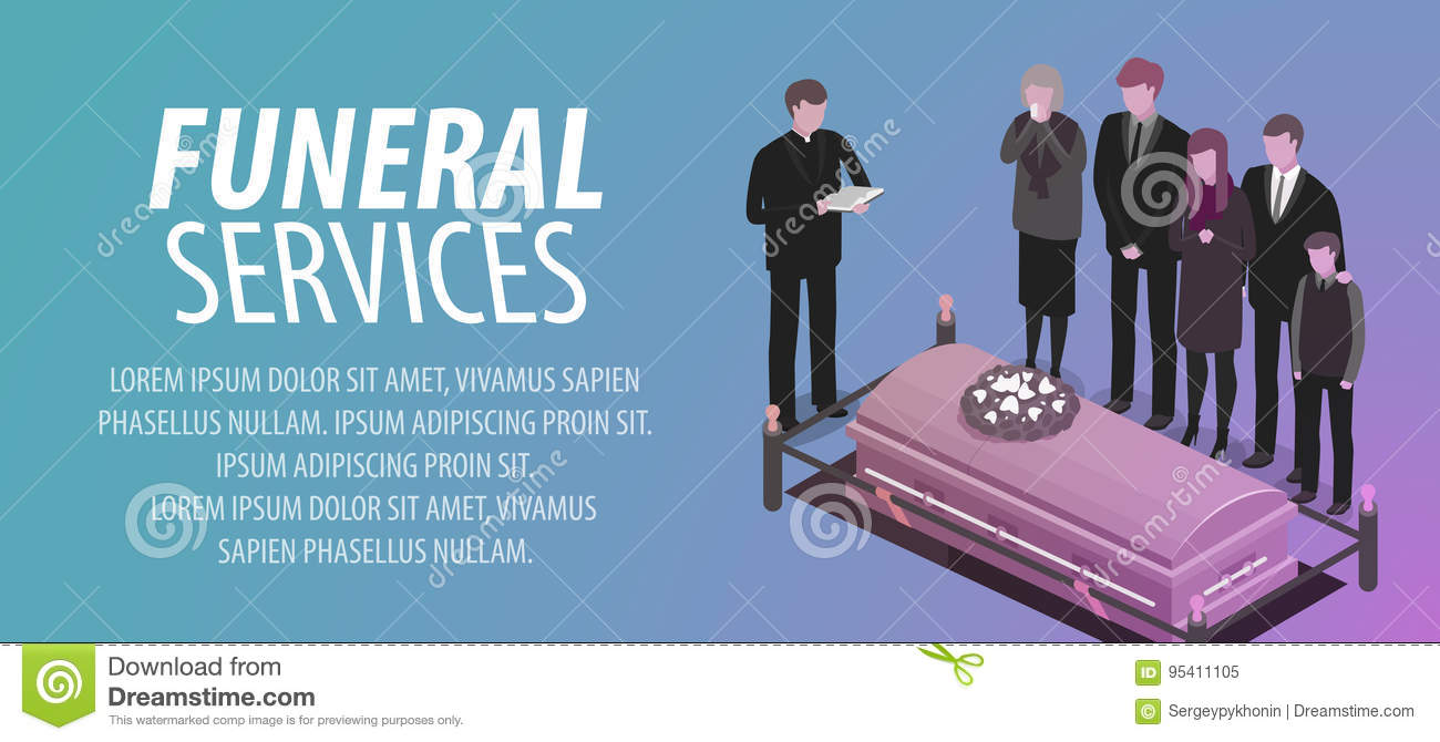 funeral services banner burial cemetery graveyard rip death