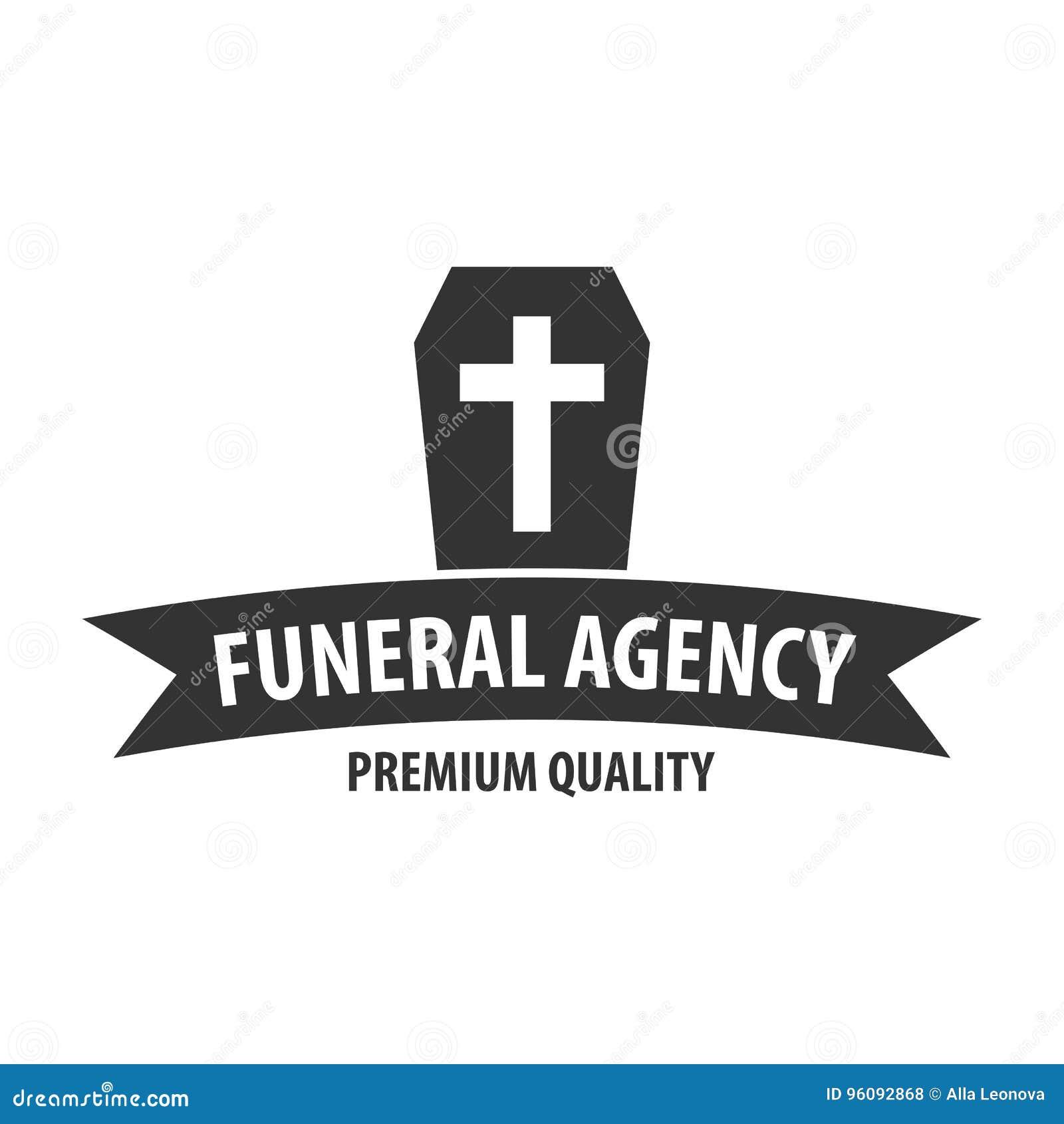 Funeraria Que Emprende Servicio Ceremonial Agencia Fúnebre Logotipo ...