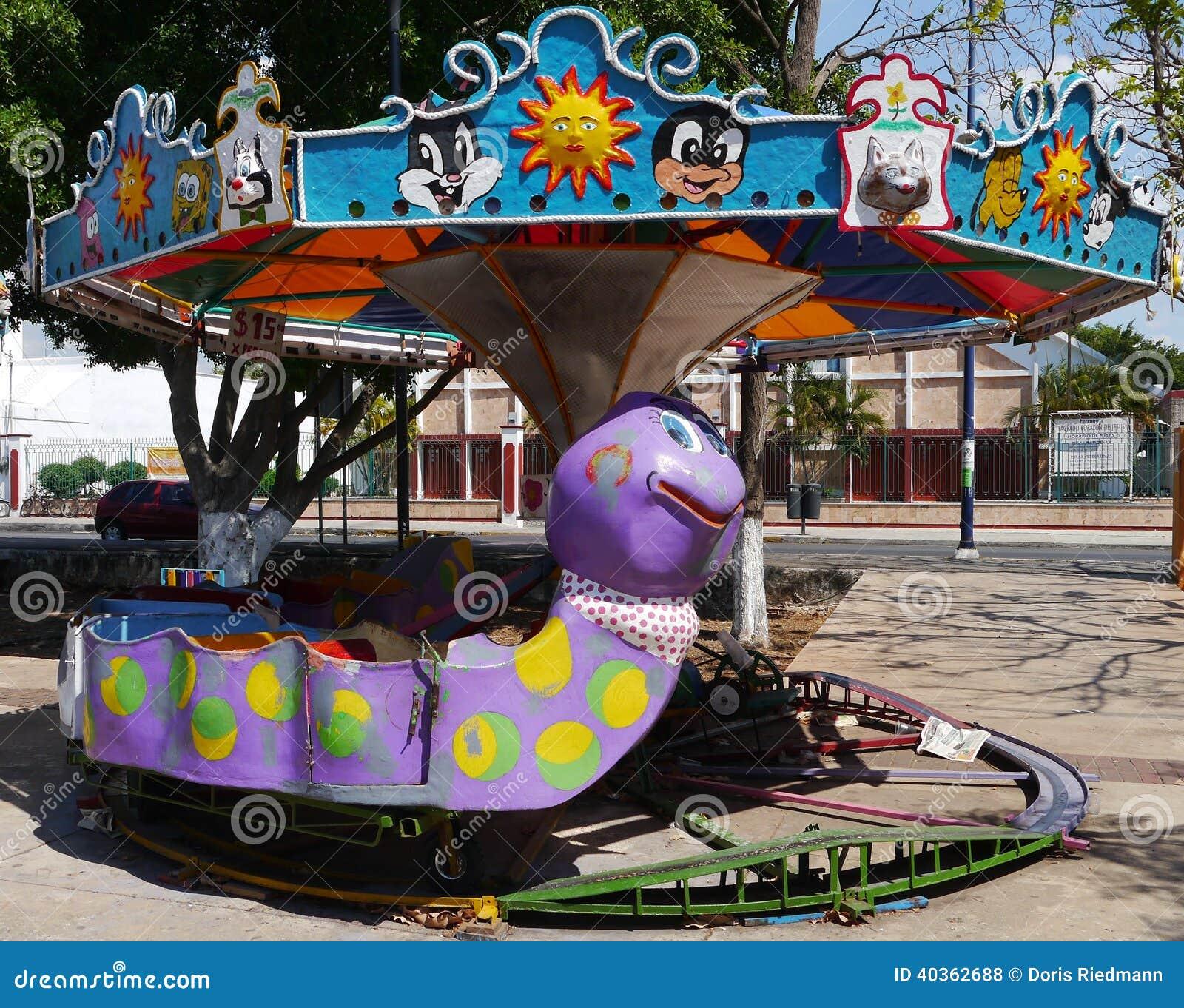 Funfair Playground Kermis Children Fun Stock Photo Image