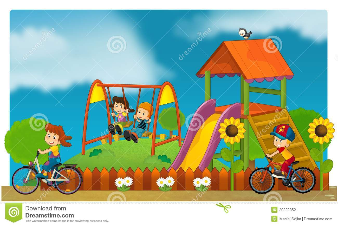 The Funfair - Playground For Kids Stock Illustration ...