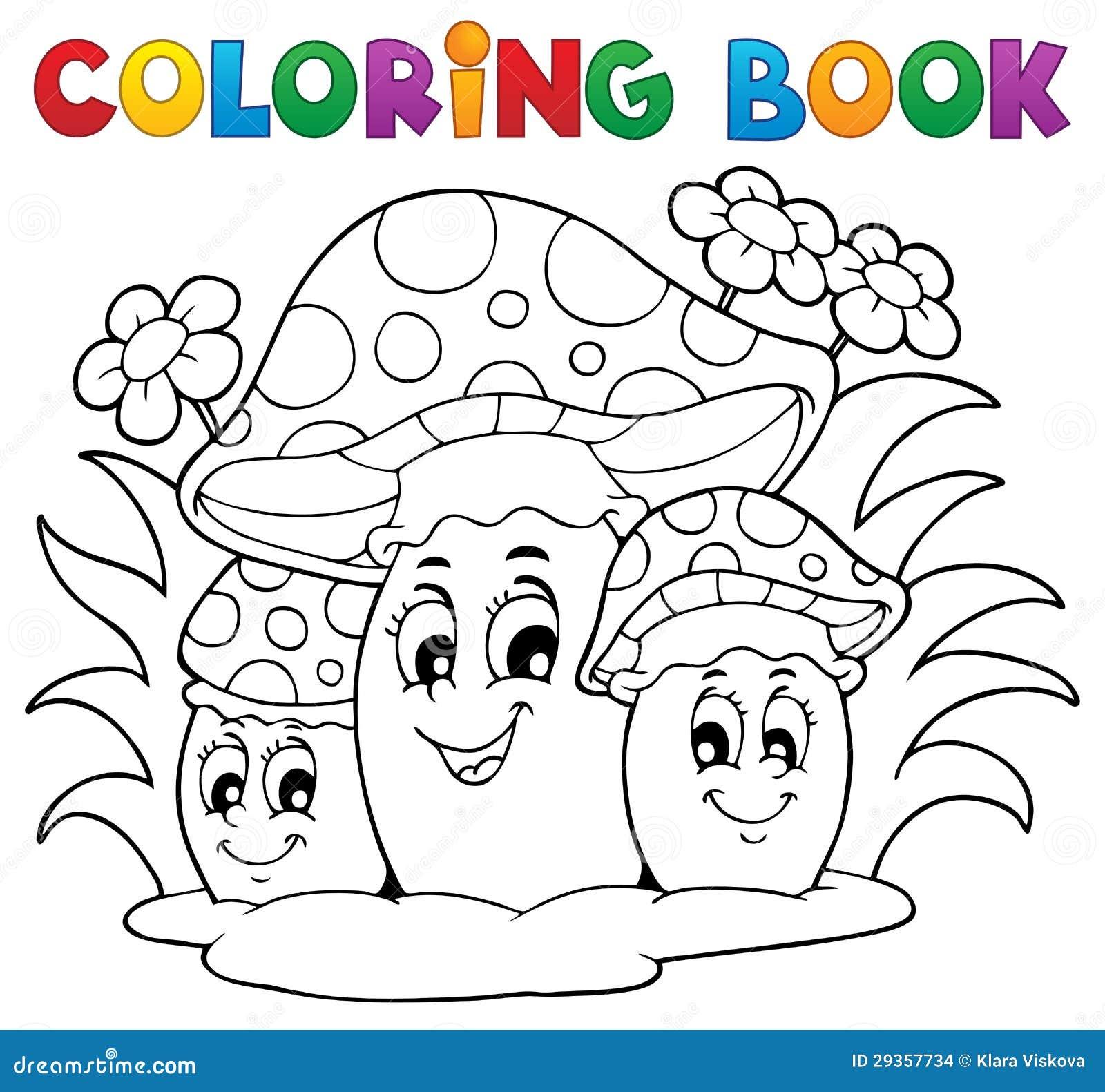 Fungo del libro da colorare immagini stock immagine - Cavaliere libro da colorare ...