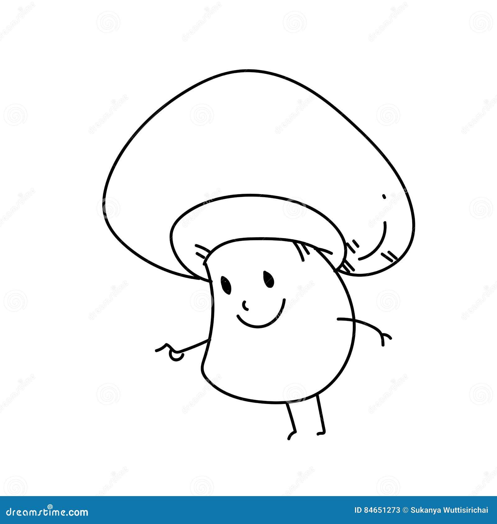Fungo Del Terreno Comunale Del Personaggio Dei Cartoni Animati Del