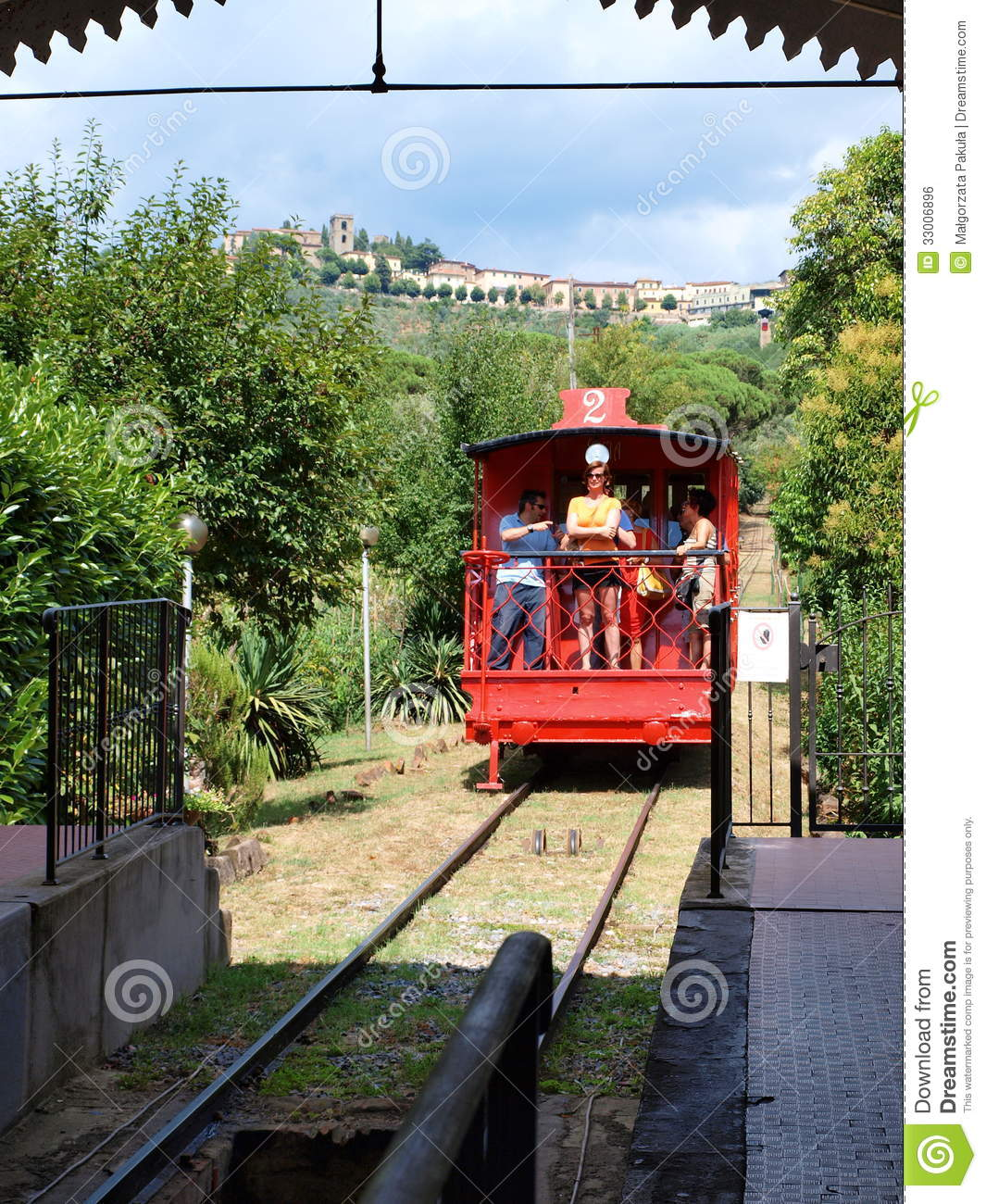 Funicular Montecatini Terme Italy Editorial Photo