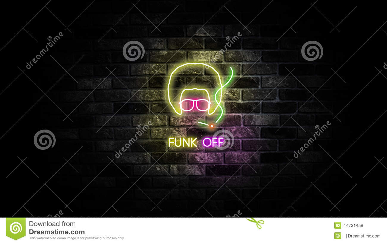Funk Off stock illustration. Illustration of lights ...