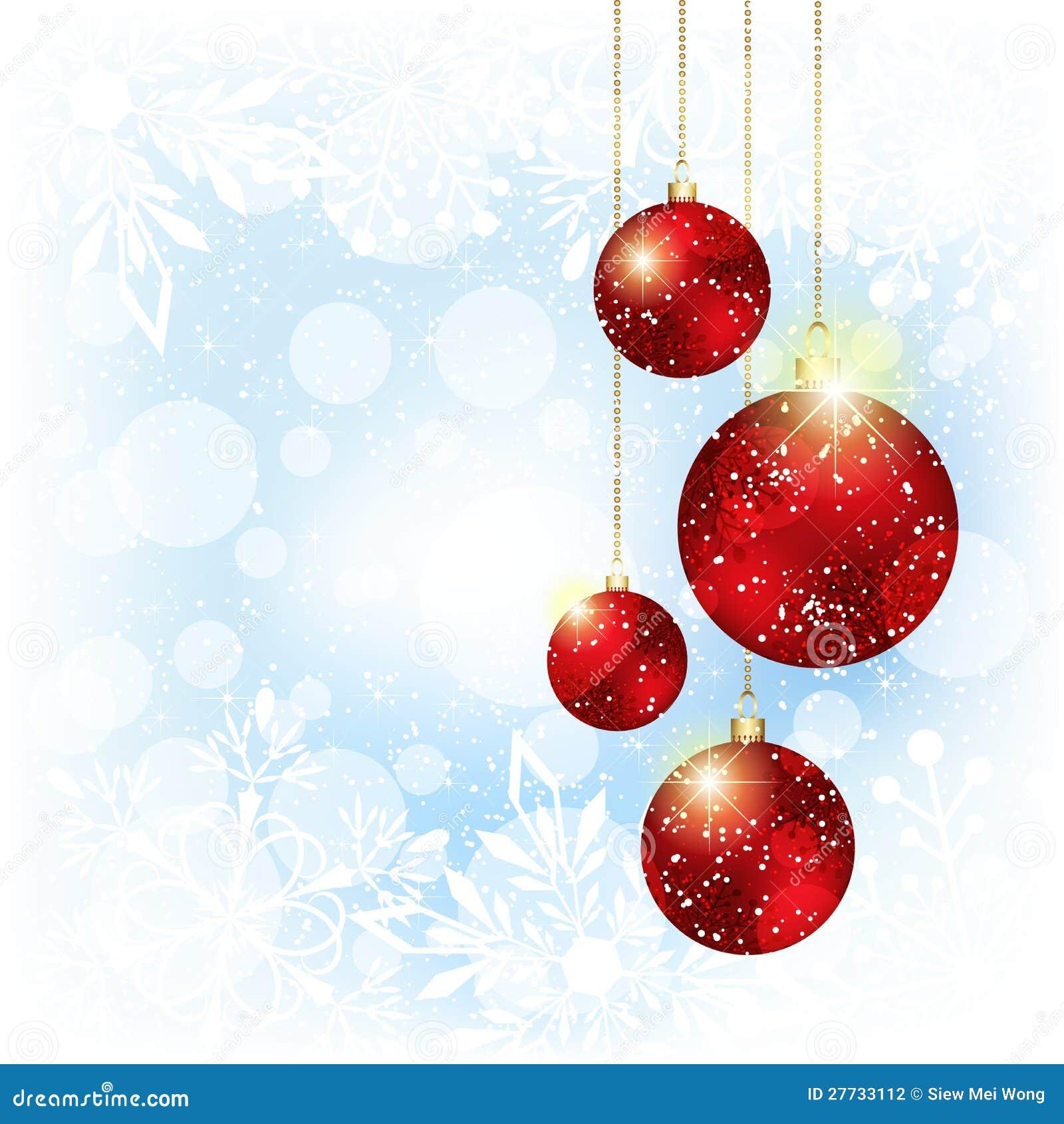 Funkelnde Weihnachtsrote Kristallkugel