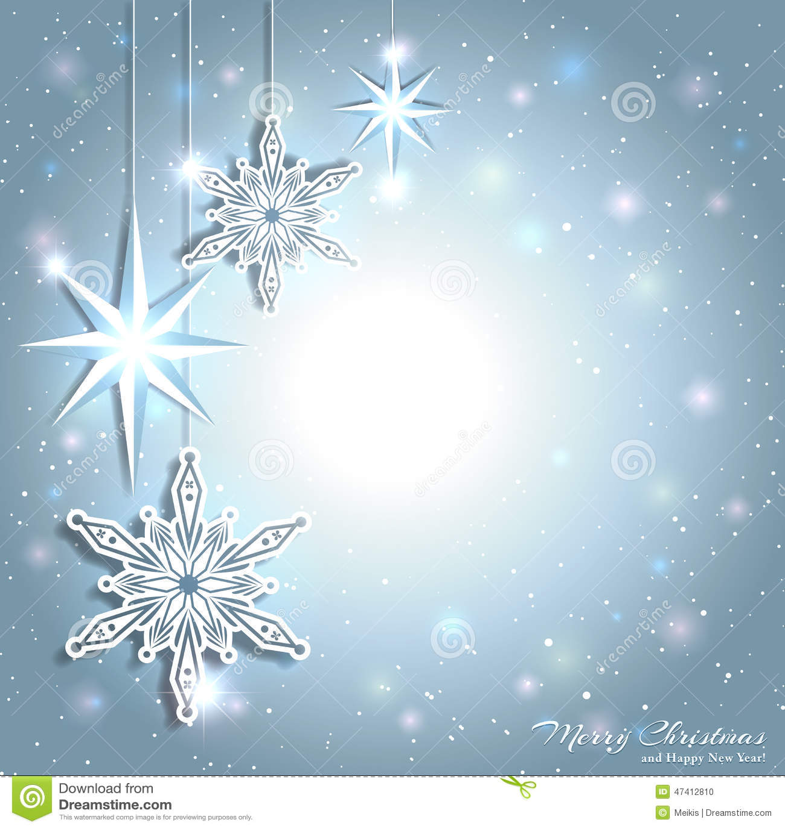Funkelnder Weihnachtsstern-Schneeflocken-Hintergrund Vektor ...