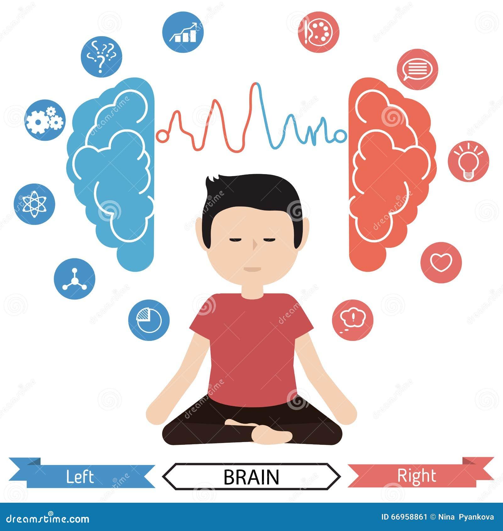 Funktionen des linken und rechten Gehirns Nutzen der Meditation