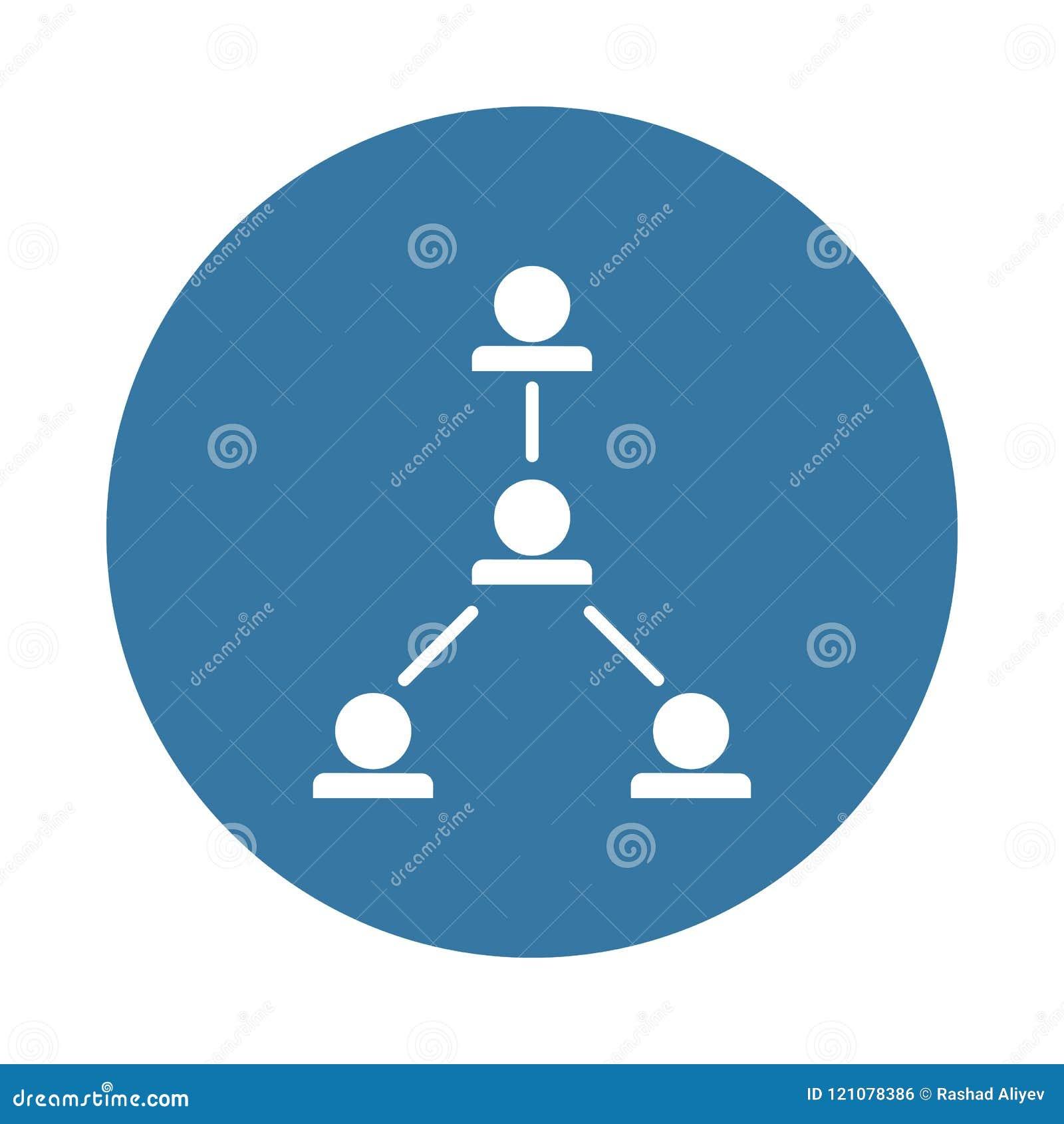 Funktionsduglig hierarkisymbol i emblemstil
