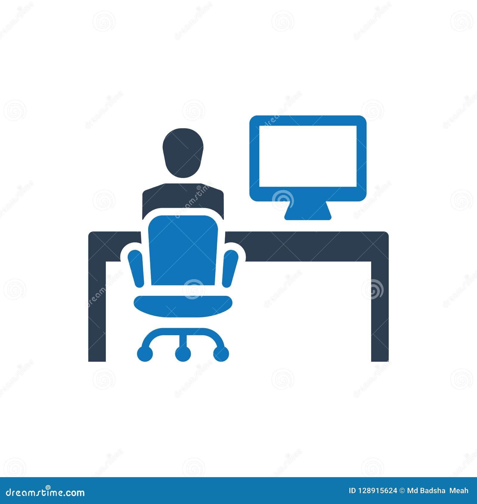 Funktionsduglig symbol för kontor