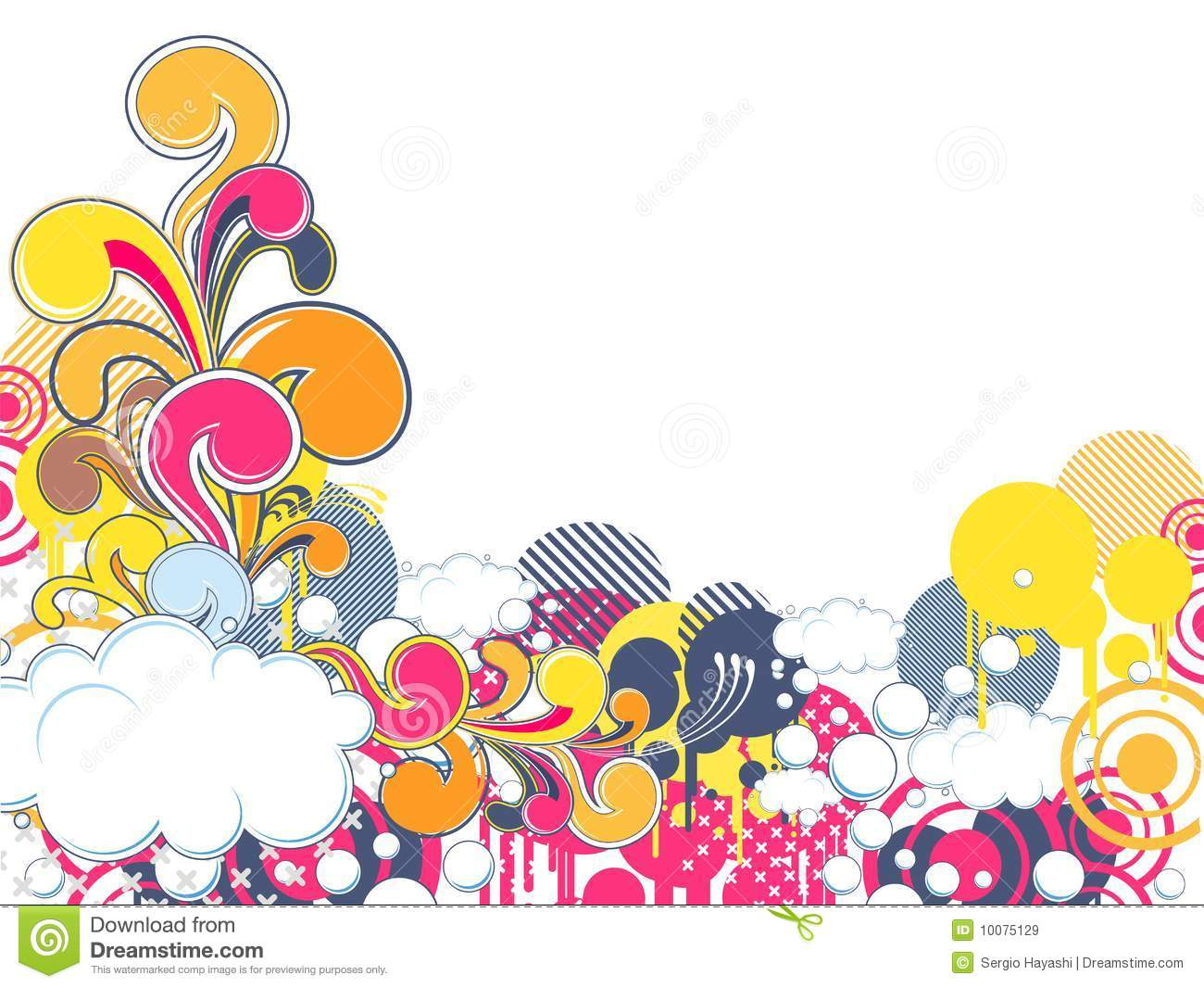 Funky abstract background stock vector. Illustration of ...