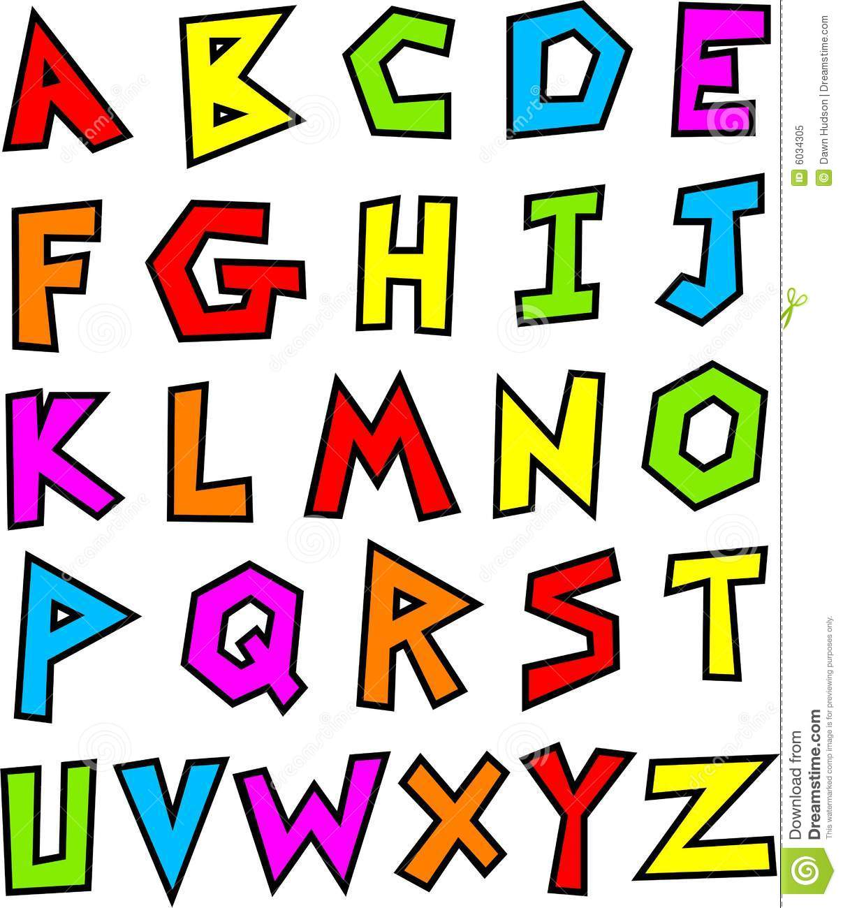 Funky Alphabet Royalty Free Stock Photo - Image: 6034305
