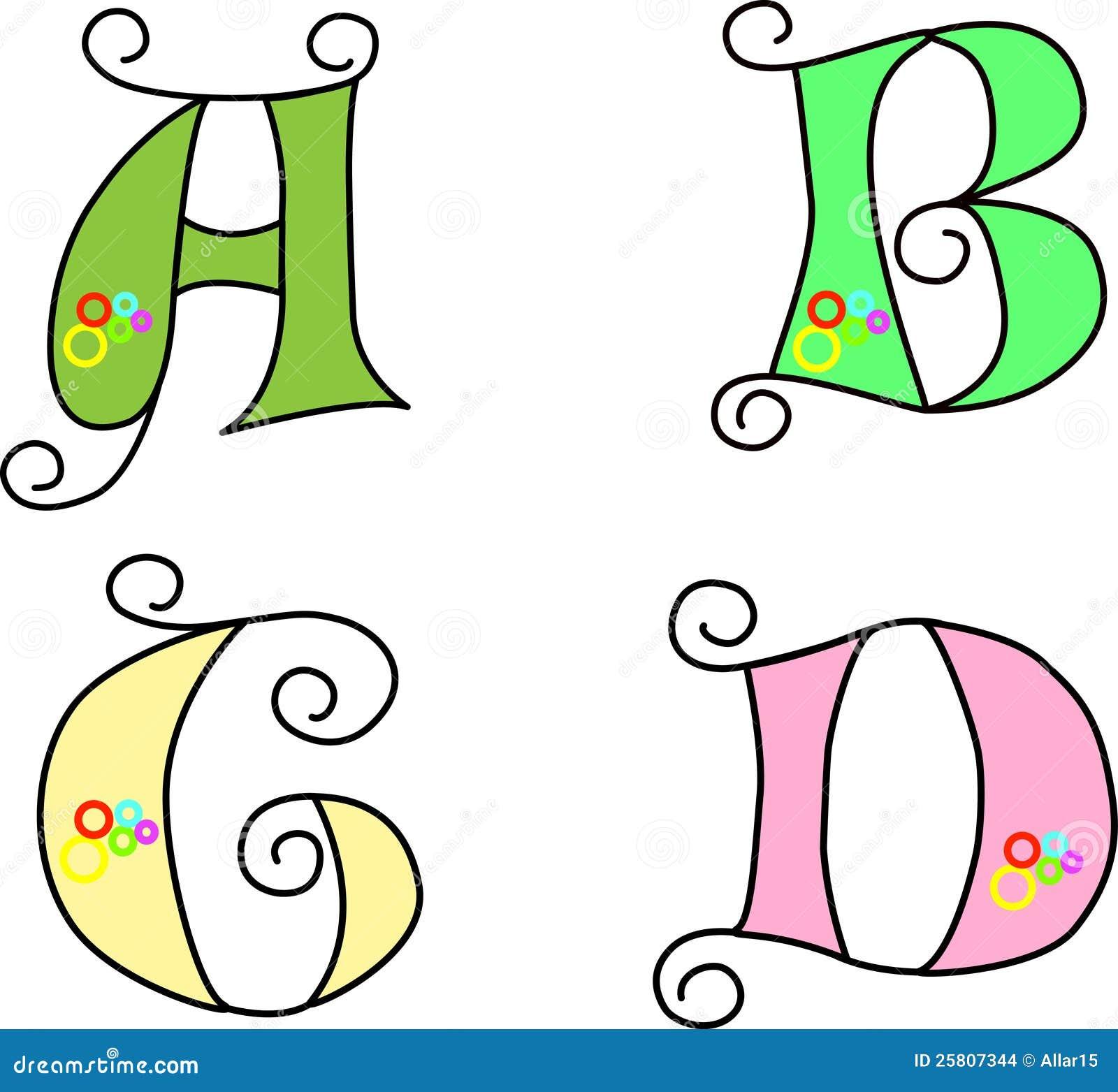 Funky Alphabet, Vector, EPS 8, Illustration Stock Images