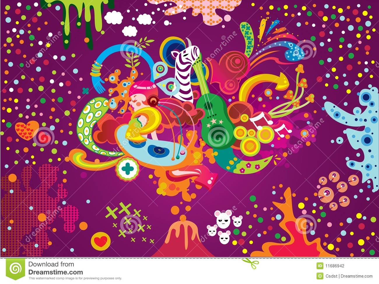 Funky background stock vector. Illustration of ornament ...