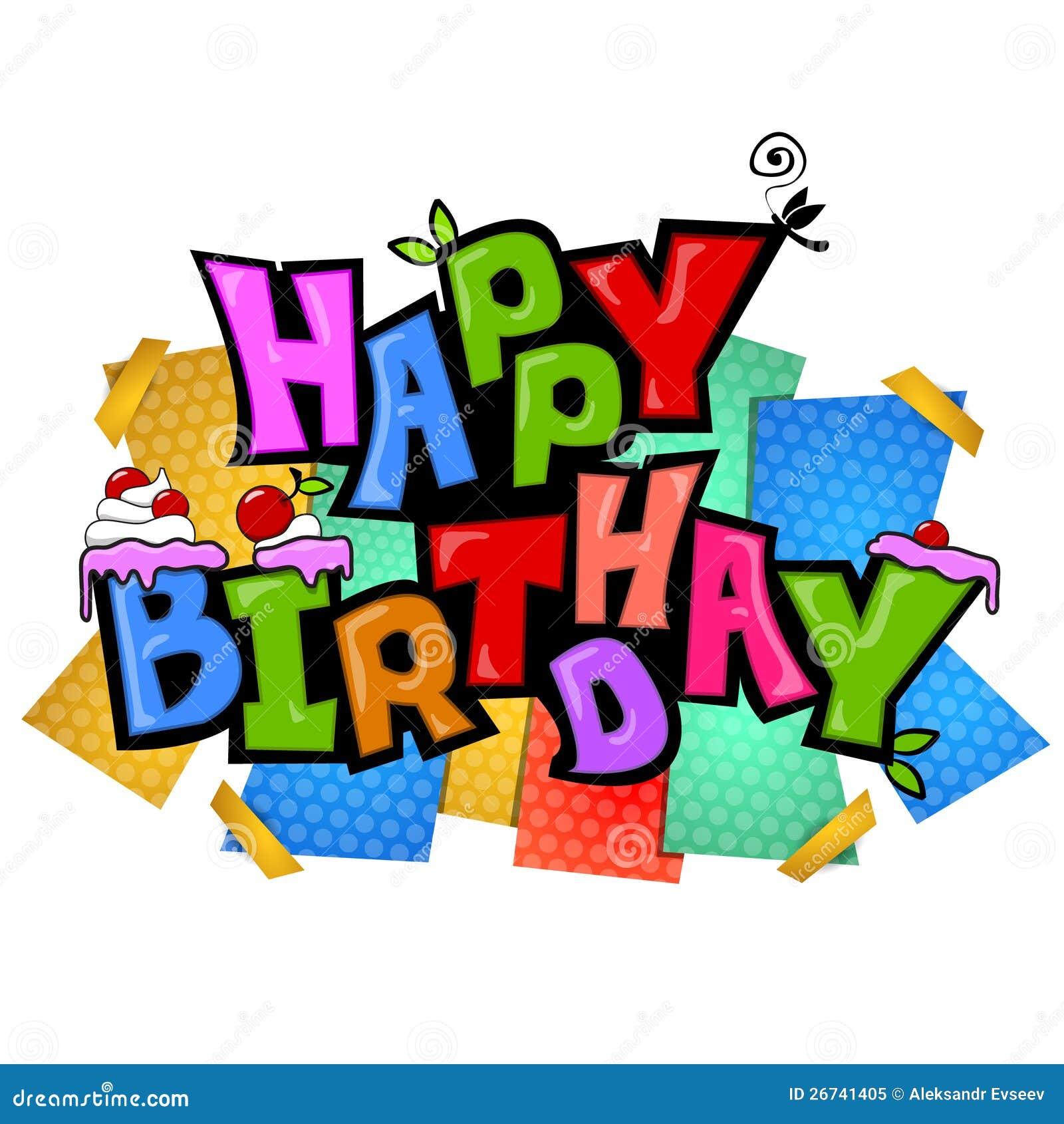 Funky Birthday Style Royalty Free Stock Photo Image
