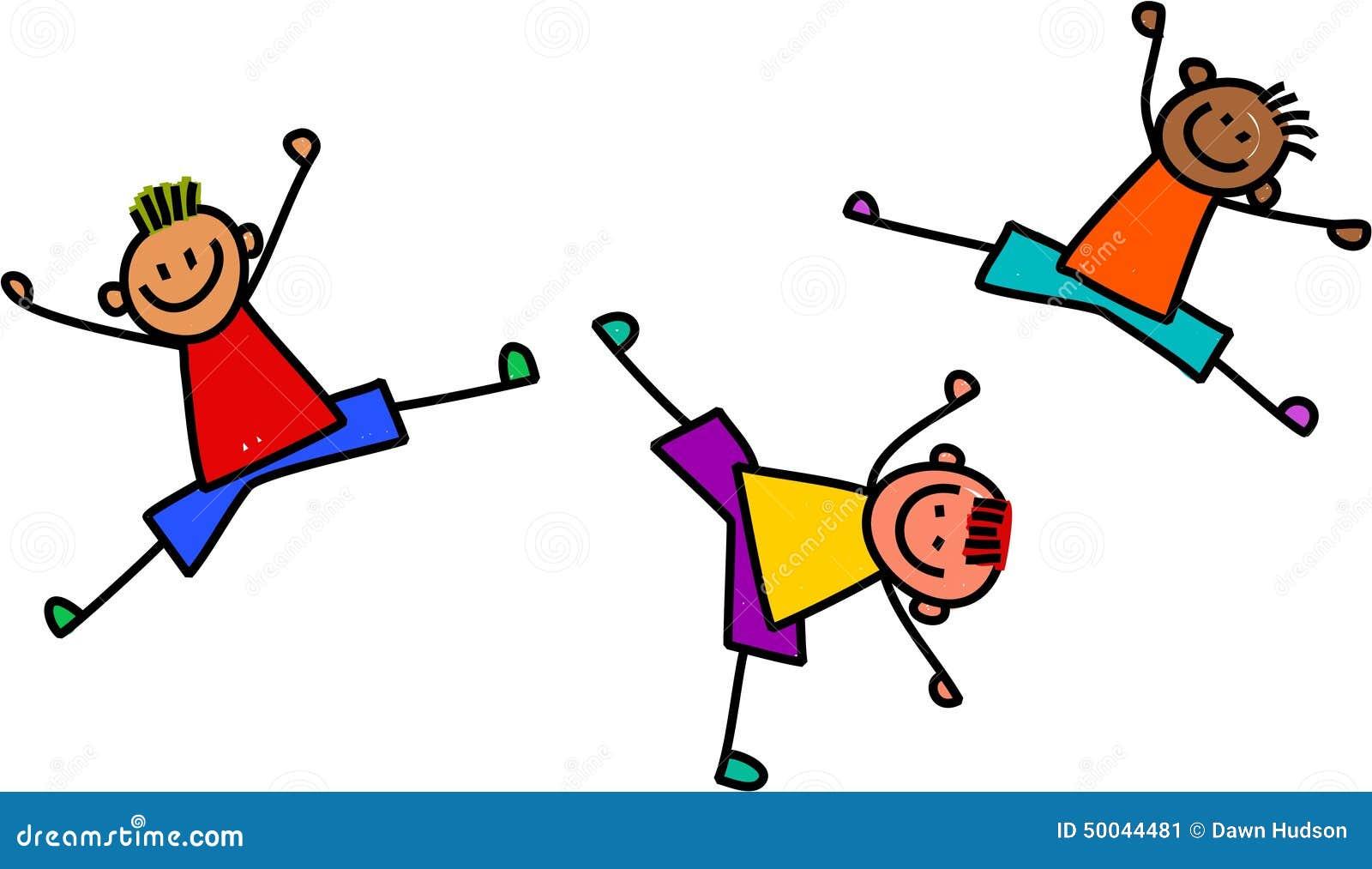 Funky Boys Playing Stock Illustration Image 50044481