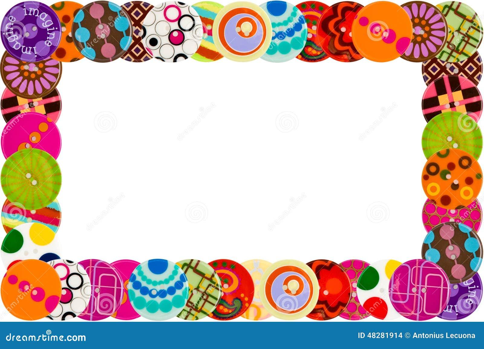 Funky button frame stock illustration. Illustration of borders ...
