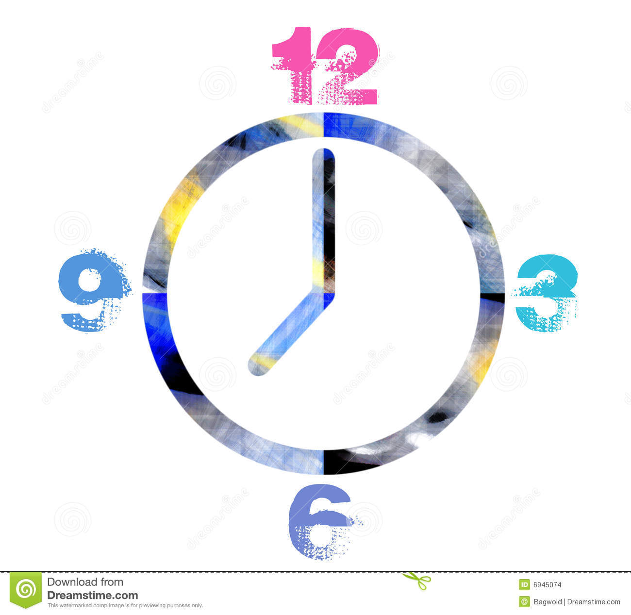 Funky clock stock images image 6945074 - Funky cuckoo clock ...
