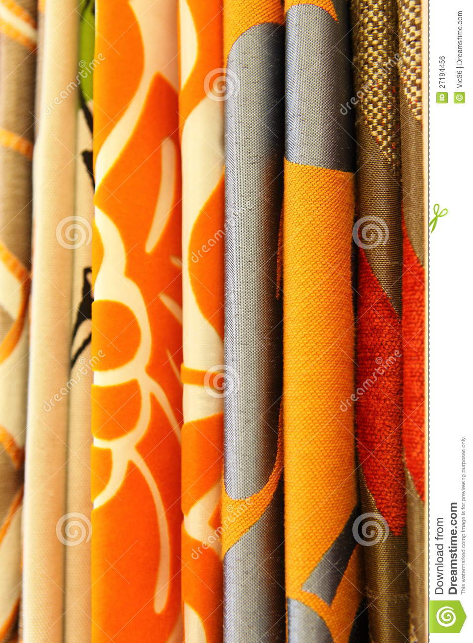 Funky Contemporary Curtain Textile Royalty Free Stock