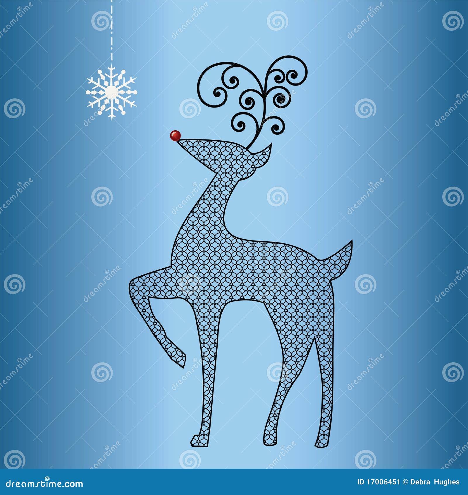 Funky Cutout Pattern Reindeer Stock Image Image 17006451