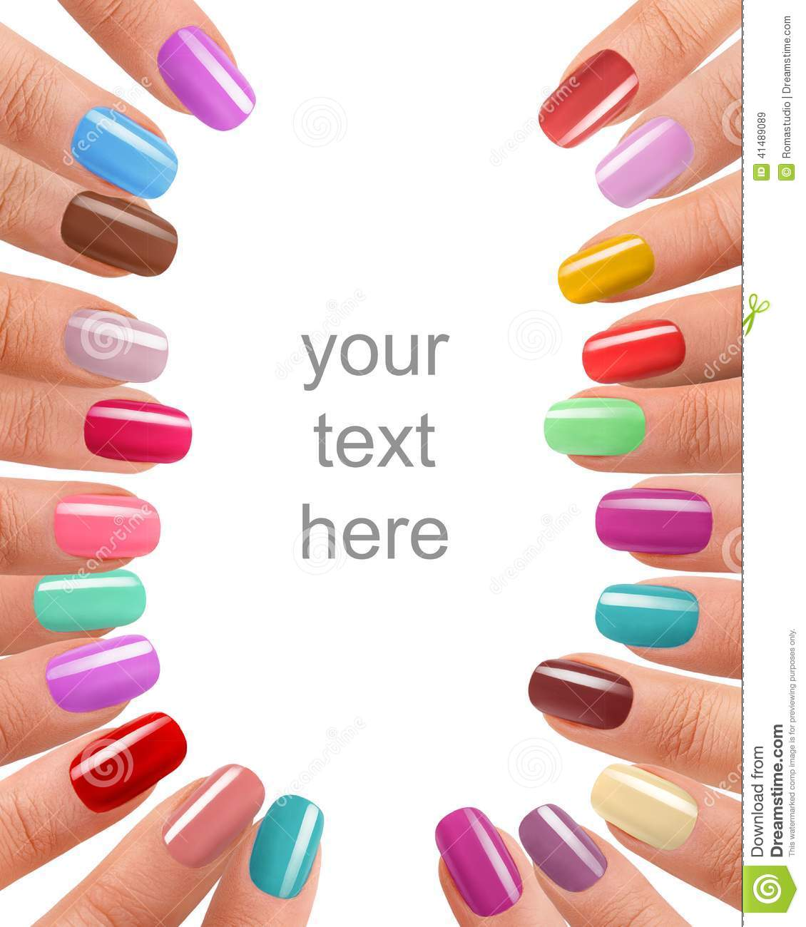 funky fingers nail polish stock photo image 41489089 manicure clipart free manicure clip art free