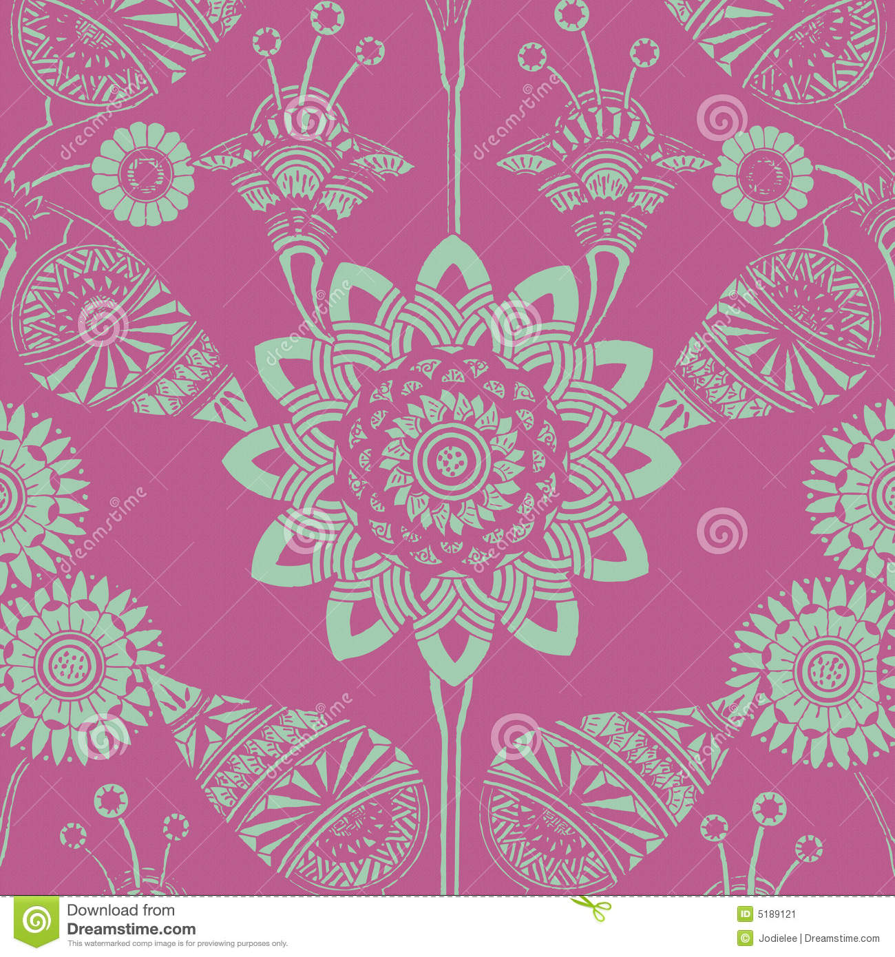 Funky Floral Gypsy Bohemian Style Background Stock Image - Image ...