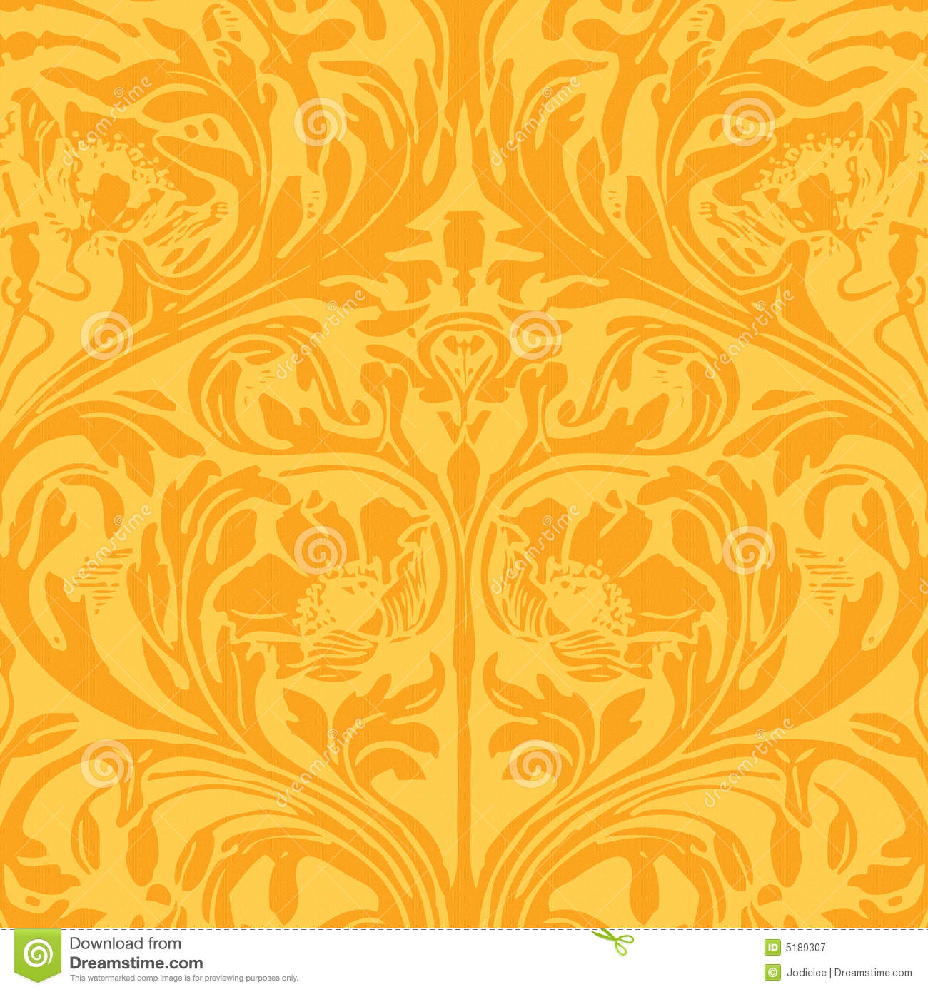 Funky Floral Gypsy Bohemian Style Background