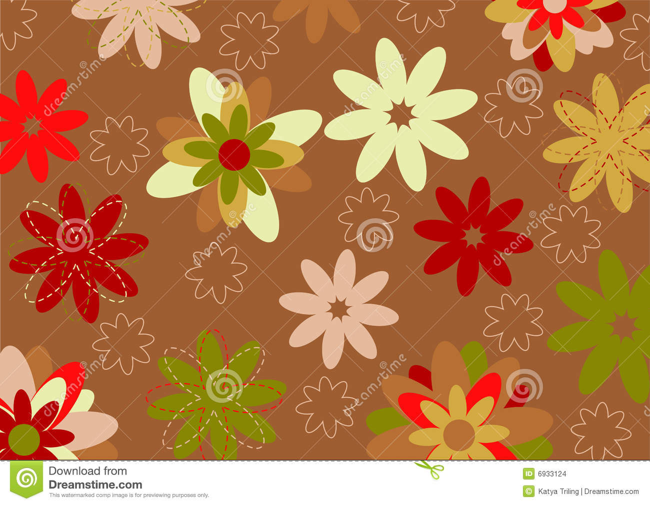 Funky Flowers Stock Images - Image: 6933124