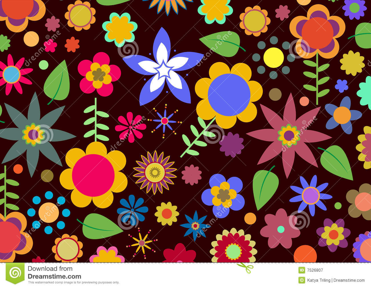 Funky Flowers Royalty Free Stock Photography - Image: 7526807