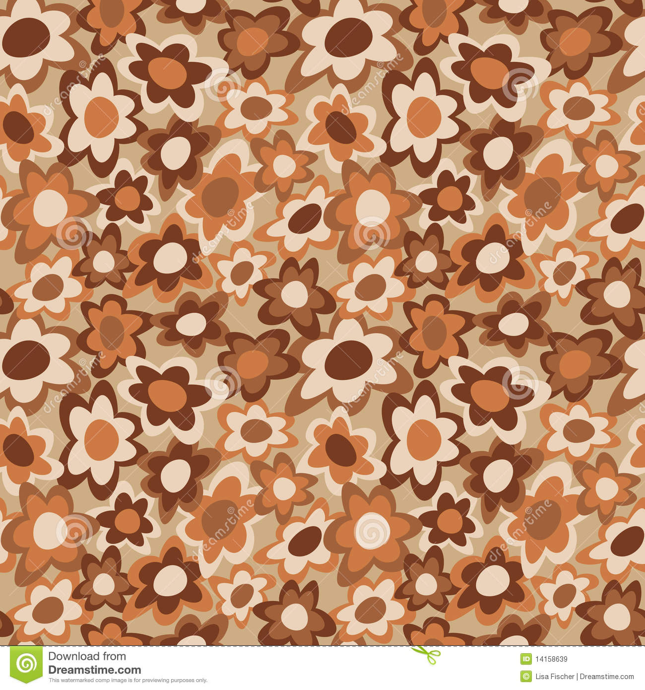Funky Flowers_Brown