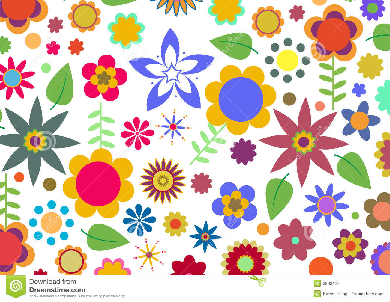 Funky Flowers Pattern Royalty Free Stock Photography ...