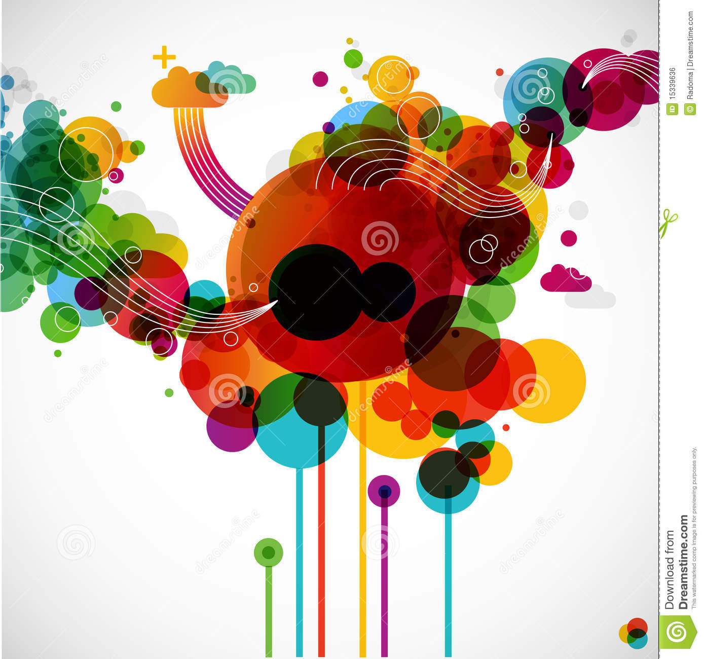 Art Design On Line : Funky graphic design stock vector image of creativity