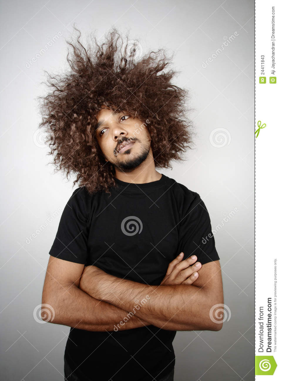Funky Hairstyle Man Stock Image Image Of Hair Lazy 24411843
