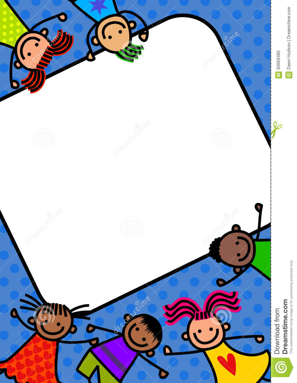 Funky Kids Border Stock Illustration Of Cartoon