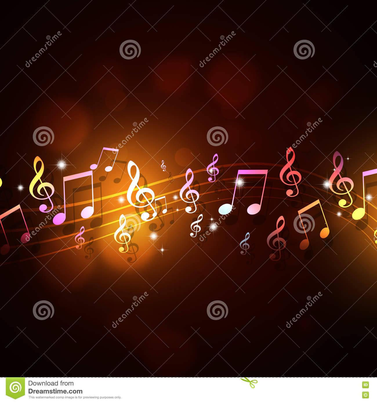 Funky Music Background stock illustration. Illustration of ...