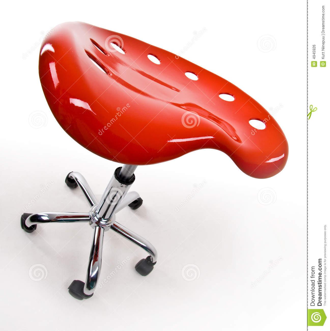 Funky office stool Royalty Free Stock Image  sc 1 st  Dreamstime.com & Red Stool With Wheels Royalty Free Stock Photography - Image: 4945907 islam-shia.org
