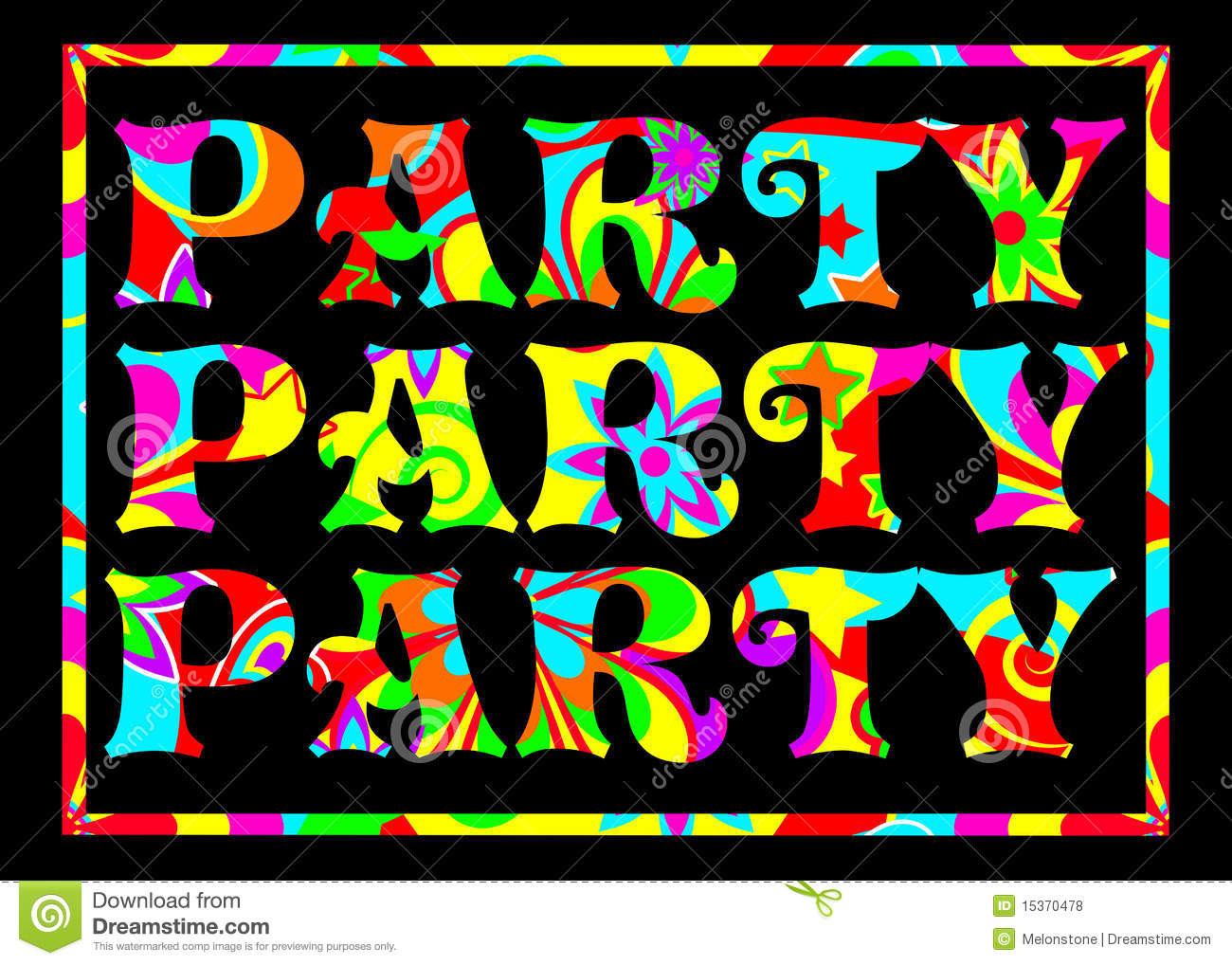 Funky Party Banner Royalty Free Stock Photos - Image: 15370478