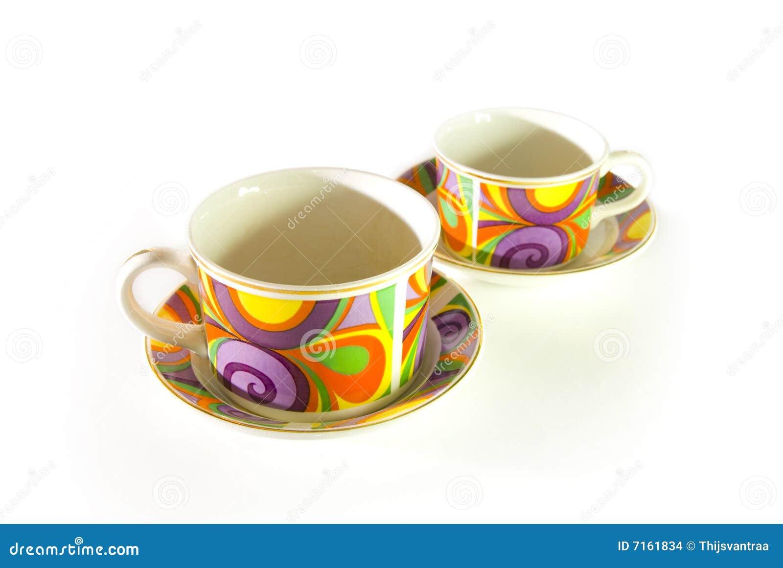 Funky pattern cups