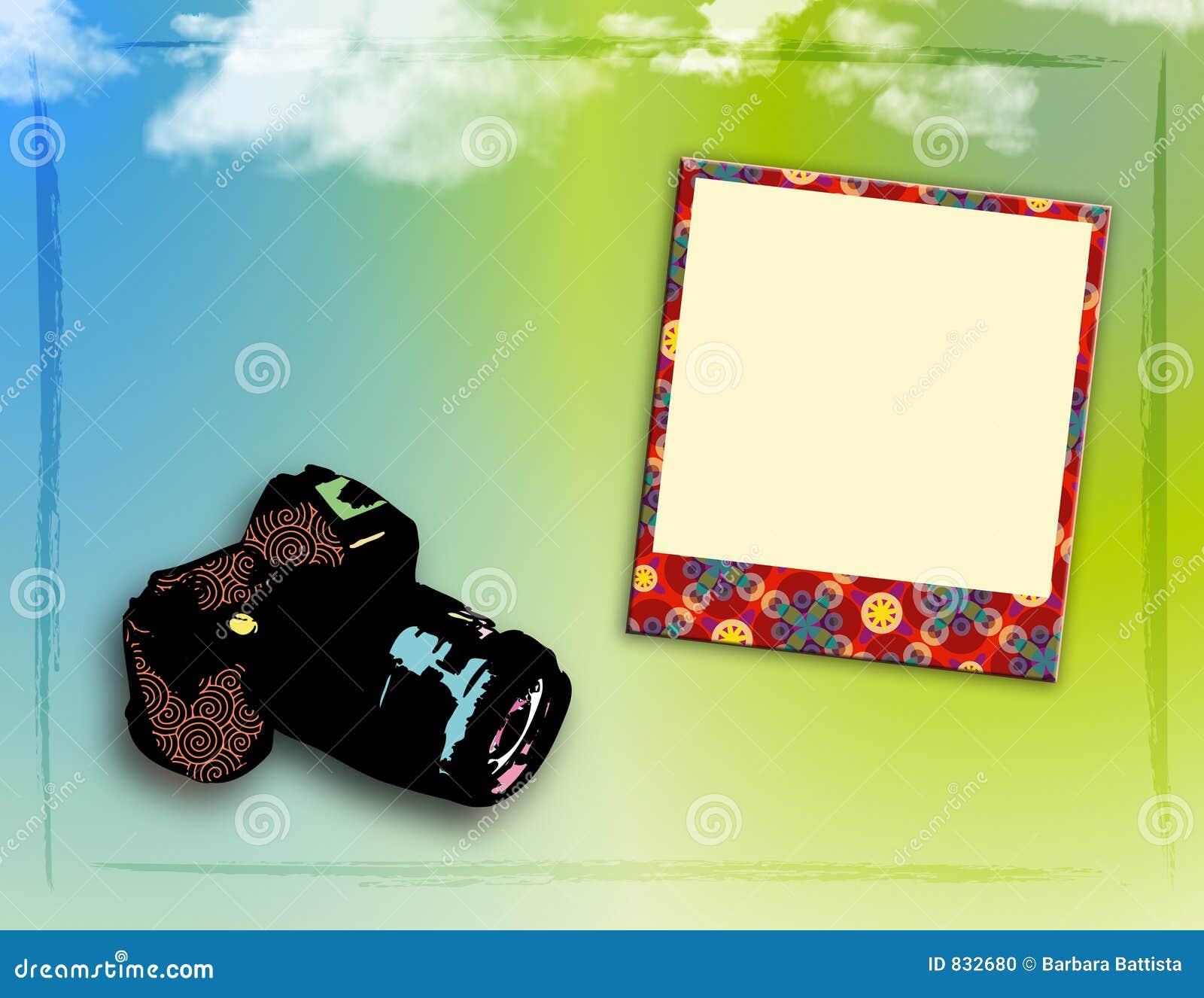 Funky Photo Frame Stock Illustration Illustration Of