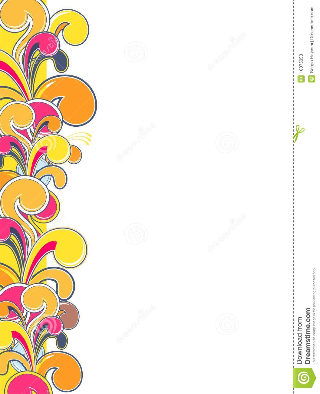 Funky pop border stock vector. Illustration of colorful ...