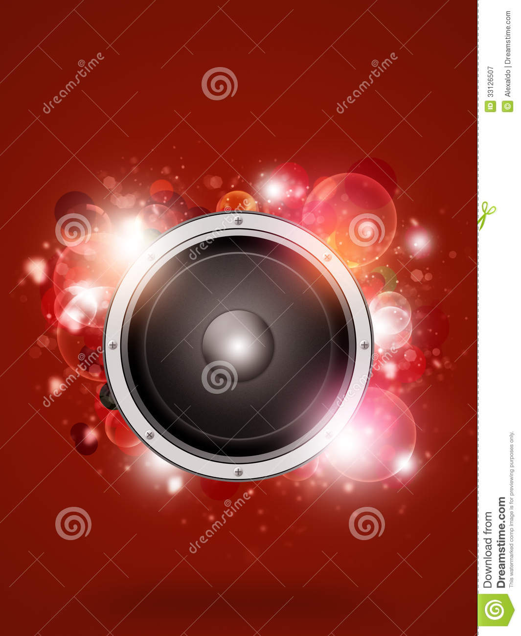 Funky Red Music Background Royalty Free Stock Photography ...