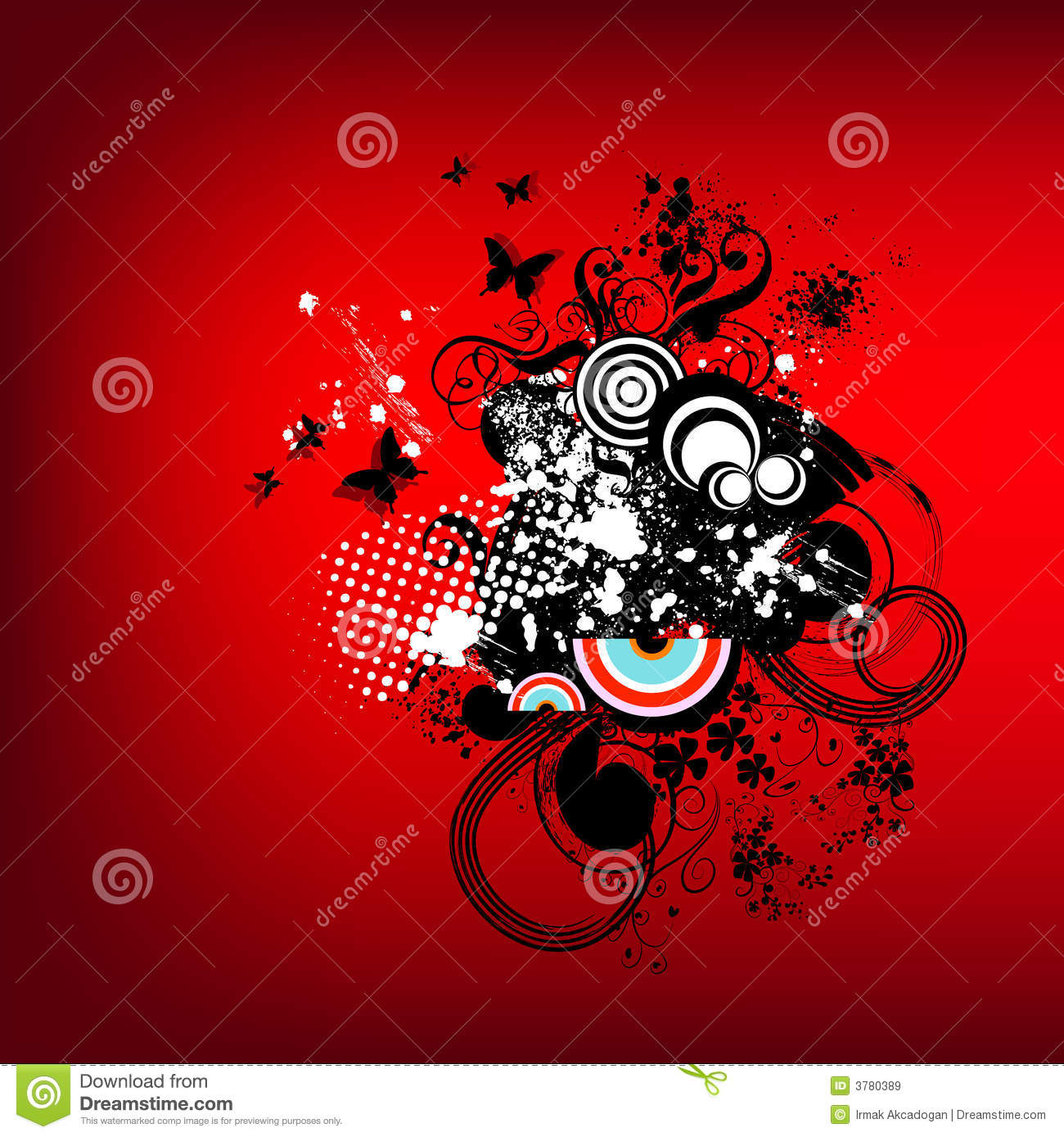 Funky Red Retro Graphic Royalty Free Stock Images - Image ...