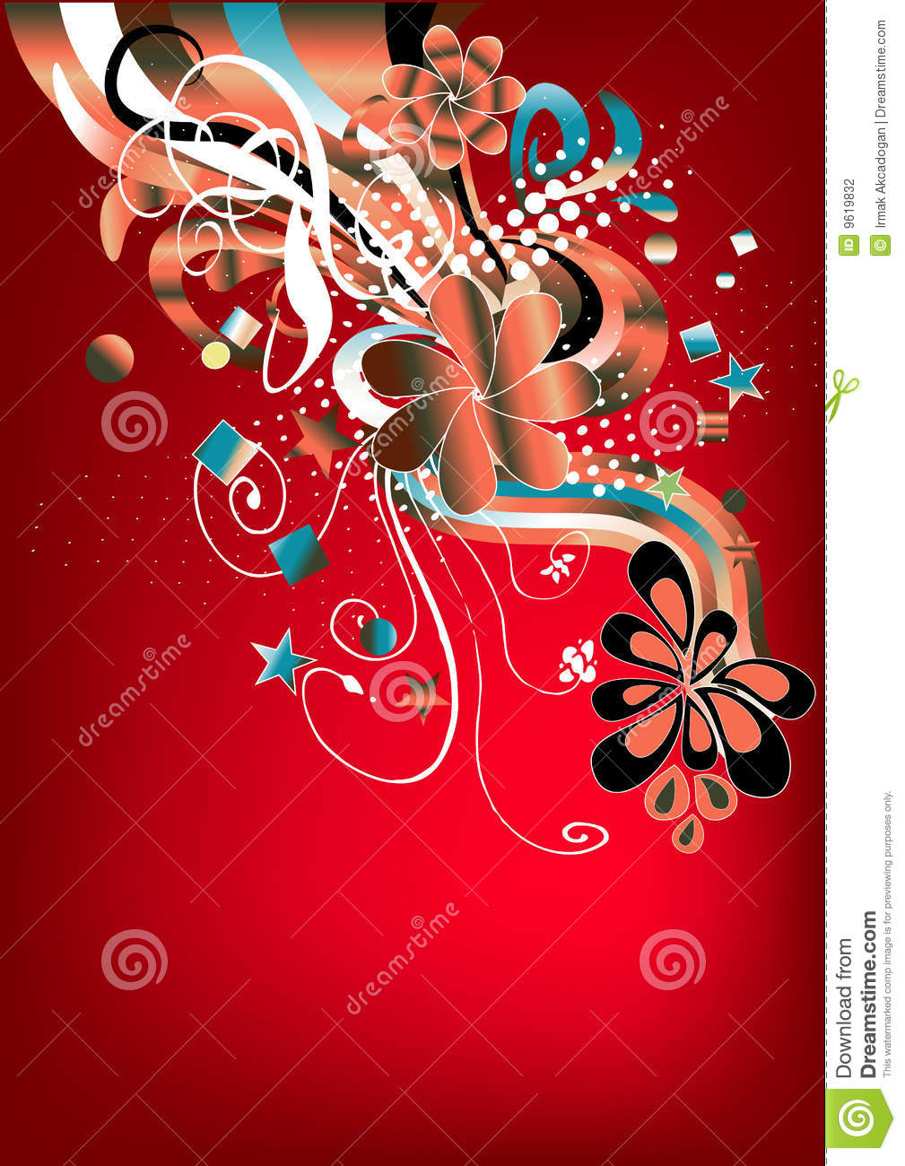 Funky Red Retro Graphic Stock Photography - Image: 9619832