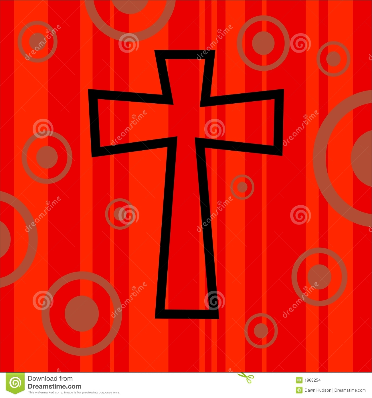 funky retro cross stock illustration  image of spiritual