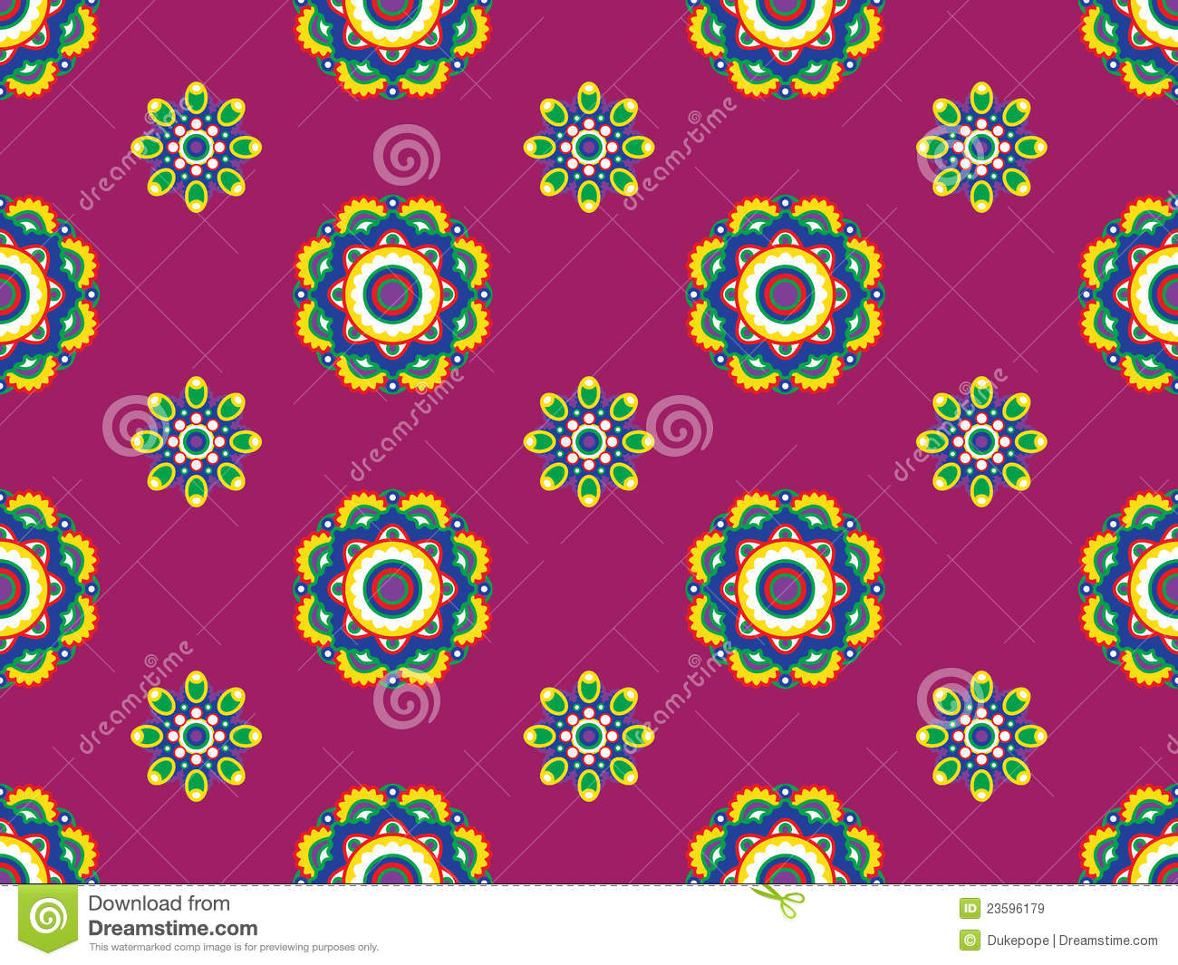 Funky Retro Floral Pattern Royalty Free Stock Images ...