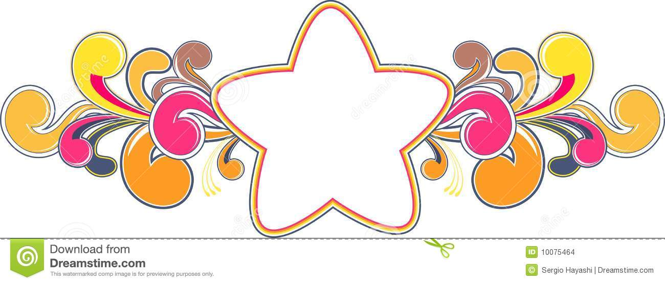 funky star frame stock images