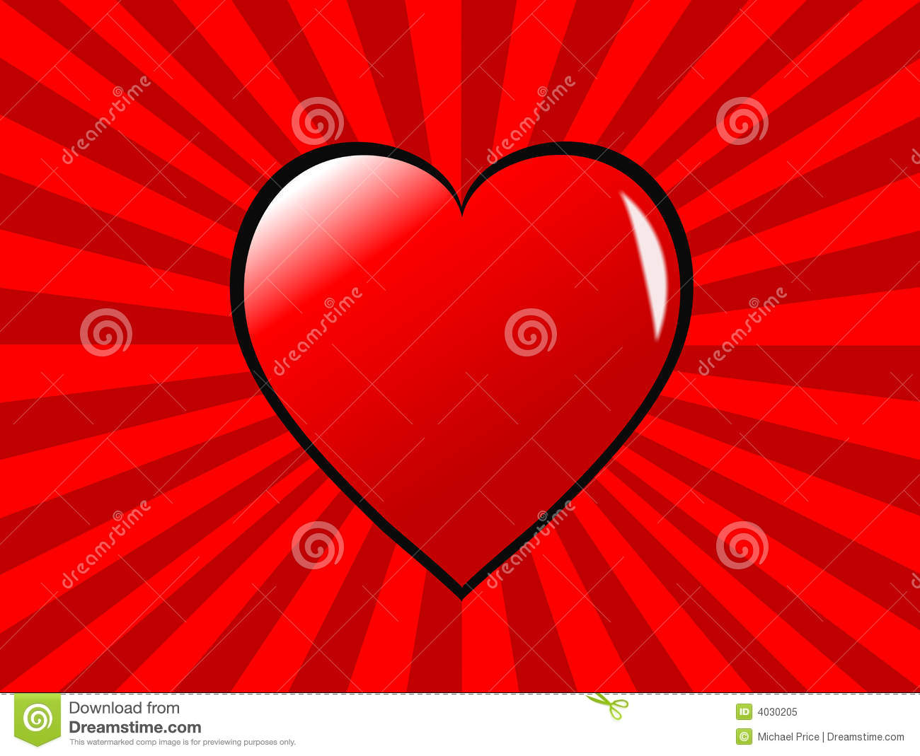Valentines Day Background With Hearts On Ground. Stock Photo ...