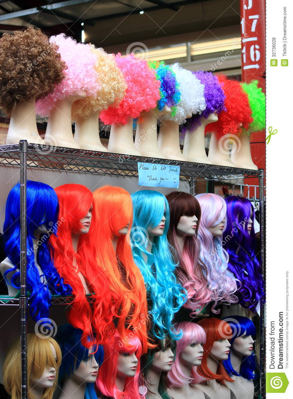 wig shop royalty free stock photos image 32736028