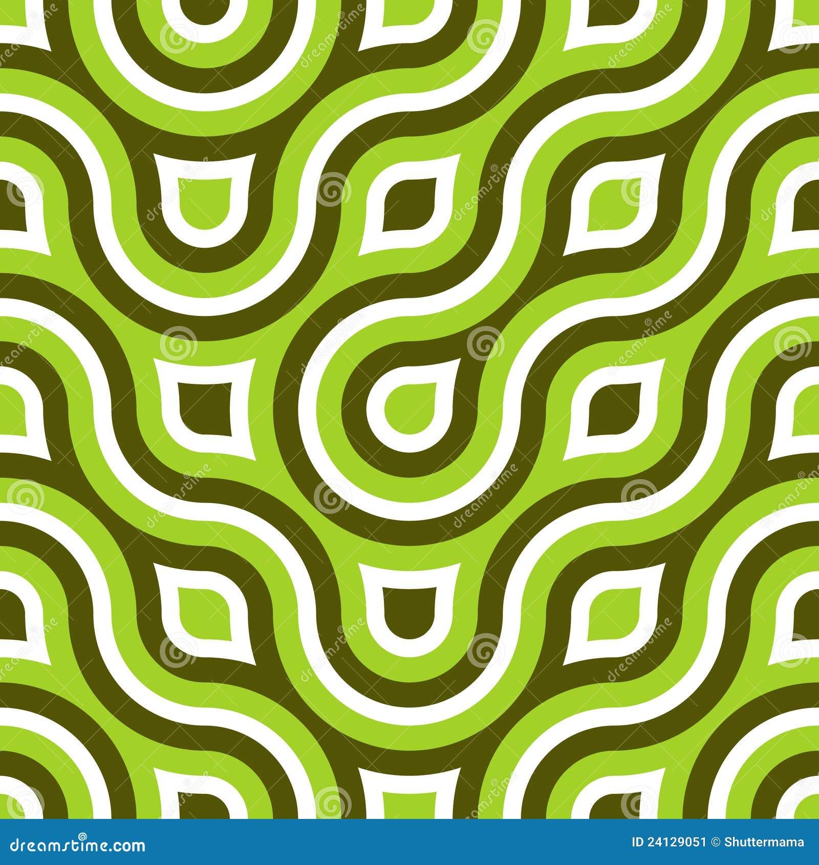 Funky Wild Circle Seamless Pattern Lime Green Stock